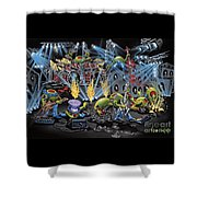 Party Like A Rockstar Shower Curtain