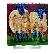 Party Sheep Shower Curtain