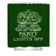 Party With The Lights Off Shower Curtain by TortureLord Art