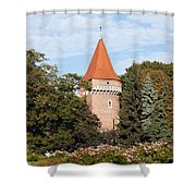 Pasamonikow Tower And Planty Park In Krakow Shower Curtain
