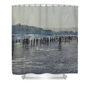 Paseo Por La Playa Del Sardinero Shower Curtain