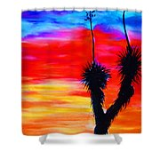 Paso Del Norte Sunset 1 Shower Curtain