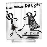Paso Doble Shower Curtain