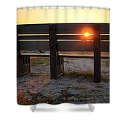 Pass-a-grille Glow Shower Curtain