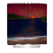 Passageway Sunset Shower Curtain