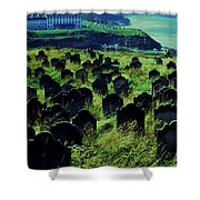 Passed Or Past Residents Of Whitby, Yorkshire Shower Curtain