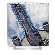 Passenger Jet Coming In For Landing 3 Shower Curtain
