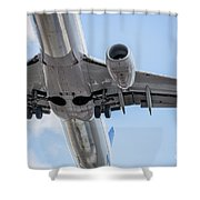 Passenger Jet Coming In For Landing 7 Shower Curtain