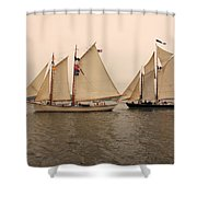 Passing Astern Shower Curtain
