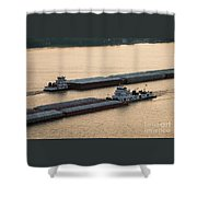 Passing Barges Shower Curtain