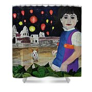 Passing By Angkor Wat Shower Curtain