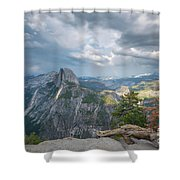 Passing Clouds Over Half Dome Shower Curtain