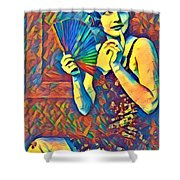Passing Glance  Shower Curtain
