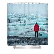 Passing Icebergs  Shower Curtain
