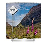 Passing Place Shower Curtain