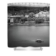 Passing Storm In Chattanooga Black And White Shower Curtain