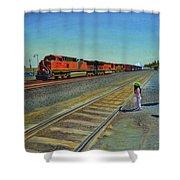 Passing Train Shower Curtain