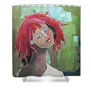 Passion Shower Curtain by Becky Kim