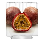 Passion Fruits Shower Curtain by Fabrizio Troiani