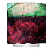 Passion In The Desert Shower Curtain by MB Dallocchio