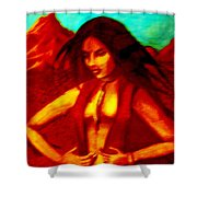 Passion In The Desert Shower Curtain