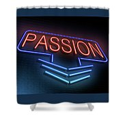 Passion Neon Concept. Shower Curtain