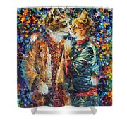 Passion Of The Cats  Shower Curtain