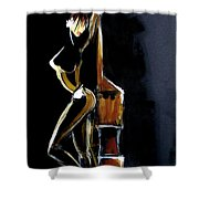 Passion Pour La Contrebasse Shower Curtain