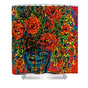 Passion Red Shower Curtain