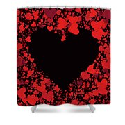 Passionate Love Heart Shower Curtain