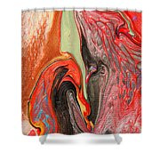 Passionate Waves Abstract Painting Shower Curtain