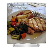 Passover Meal Shower Curtain