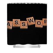 Passoword Shower Curtain