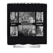 Past New Orleans People Shower Curtain
