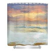 Pastel Beach Mornning Shower Curtain