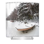 Pastel Boat Shower Curtain