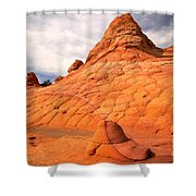 Pastel Checkerboad Landscape Shower Curtain
