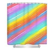 Pastel Diagonals Shower Curtain