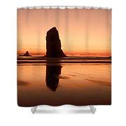 Pastel Evening On The Oregon Coast Shower Curtain