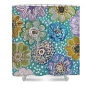 Pastel Floral Garden Shower Curtain