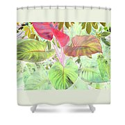 Pastel Hearts Shower Curtain