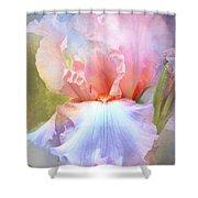 Pastel Iris Pleasure Shower Curtain