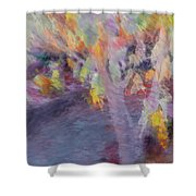 Pastel Leaves Shower Curtain