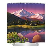 Pastel Mountain Shower Curtain