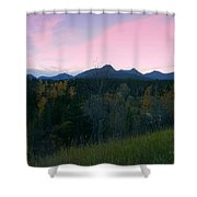 Pastel Mountain Silhouette Shower Curtain