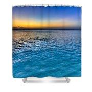 Pastel Ocean Shower Curtain by Chad Dutson