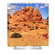Pastel Petrified Sand Dunes Shower Curtain