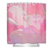 Pastel Pink Petals Shower Curtain