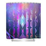 Pastel Pink Reeds Shower Curtain