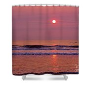Pastel  Pink Sunrise Shower Curtain